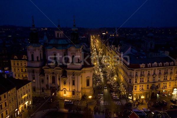 Christmas time in Prague, Czech Republic Stock photo © phbcz