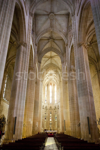 interior of Santa Maria da Vitoria Monastery, Batalha, Estremadu Stock photo © phbcz