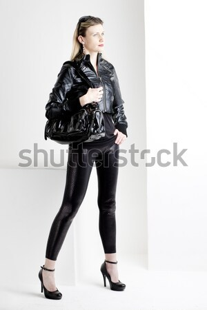 young woman wearing extravagant clothes Stock photo © phbcz