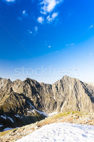 Hoog Slowakije landschap sneeuw Europa stilte Stockfoto © phbcz