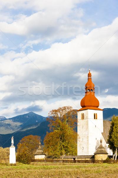 fortified church in Liptovske Matiasovce, Slovakia Stock photo © phbcz