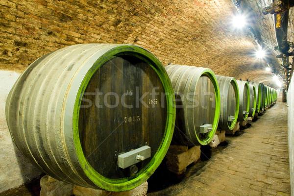 wine cellar, Jaroslavice, Czech Republic Stock photo © phbcz
