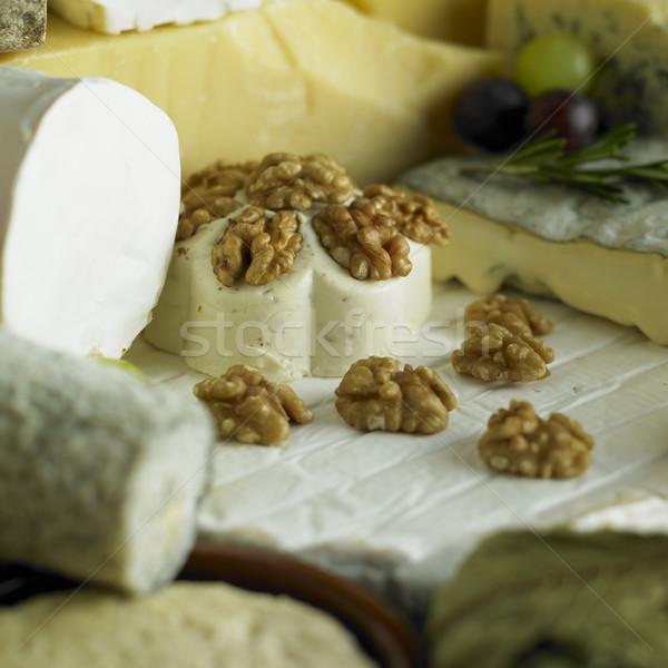 Zdjęcia stock: Ser · martwa · natura · żywności · zdrowia · orzech