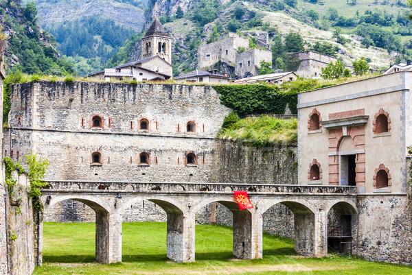 Forteresse Italie pont Voyage architecture Europe Photo stock © phbcz
