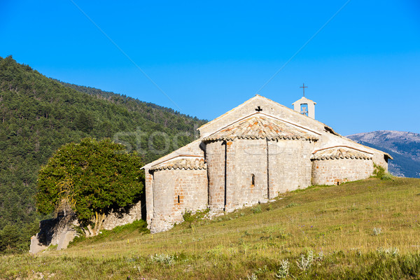 Kapel Frankrijk architectuur Europa geschiedenis buitenshuis Stockfoto © phbcz