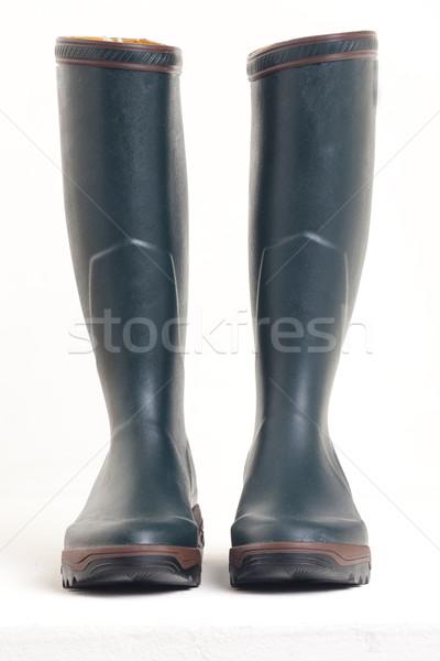 Verde stivali di gomma scarpe stile protezione stivali Foto d'archivio © phbcz