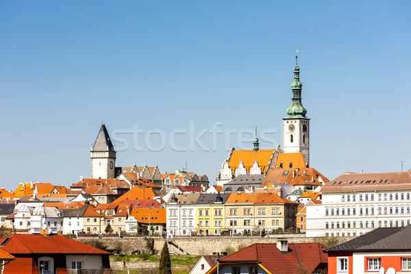 Csehország ház templom építészet torony városkép Stock fotó © phbcz