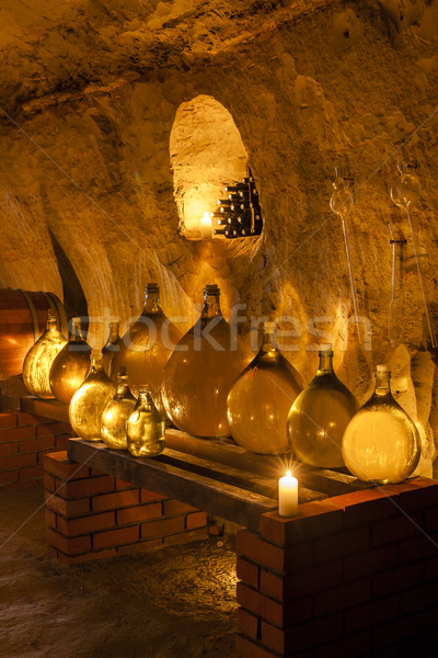 wine cellar, Czech Republic Stock photo © phbcz