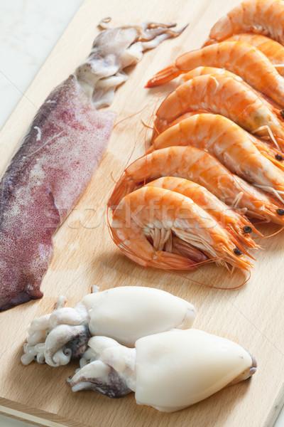 Ancora vita greggio frutti di mare alimentare sani dettaglio Foto d'archivio © phbcz