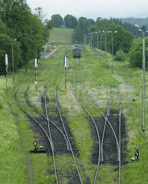 Ferrovia Polonia treno motore trasporto brano Foto d'archivio © phbcz