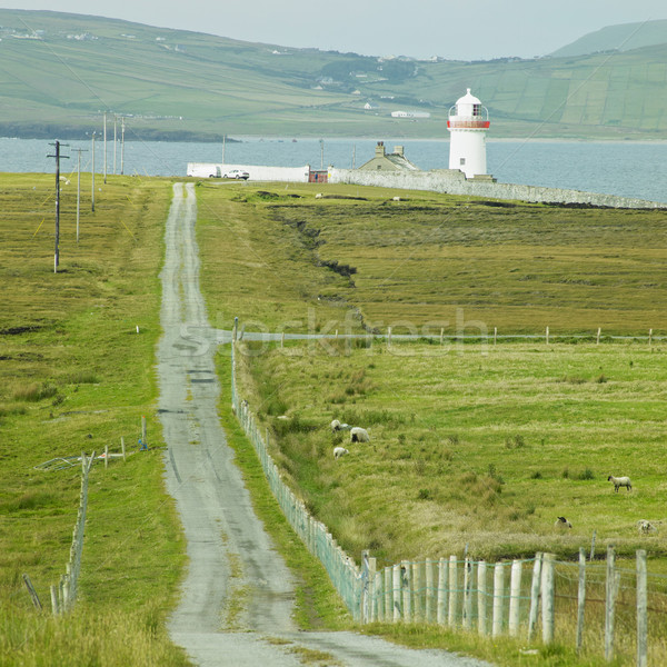 lighthouse, The Mullet Peninsula, County Mayo, Ireland Stock photo © phbcz