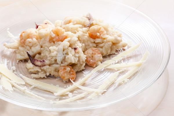 Italiano risotto frutos do mar prato arroz refeição Foto stock © phbcz