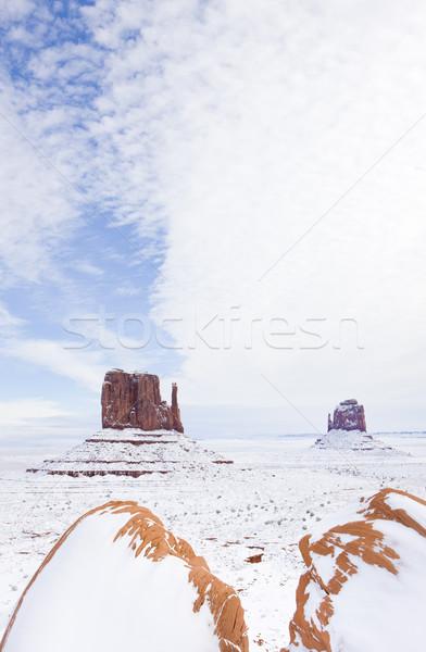 Eldiveni vadi park ABD manzara kar Stok fotoğraf © phbcz