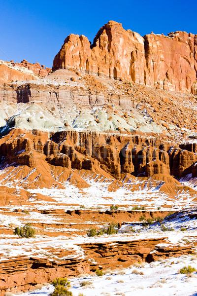 Park winter Utah USA landschap sneeuw Stockfoto © phbcz