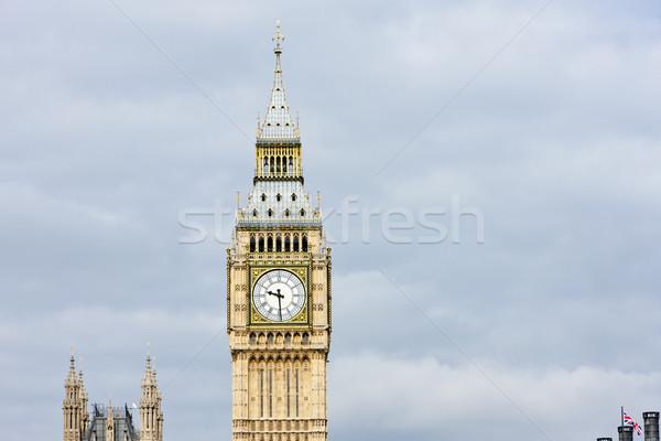 Big Ben London Großbritannien Stadt Uhr Reise Stock foto © phbcz