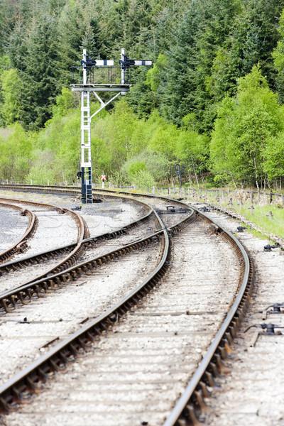 Gépi jelző észak Yorkshire vasút Stock fotó © phbcz