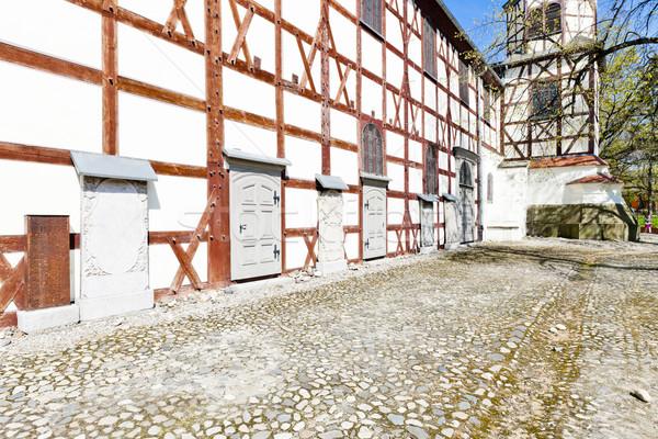 église Pologne architecture histoire extérieur bois Photo stock © phbcz