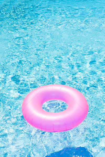 pink rubber ring in swimming pool Stock photo © phbcz