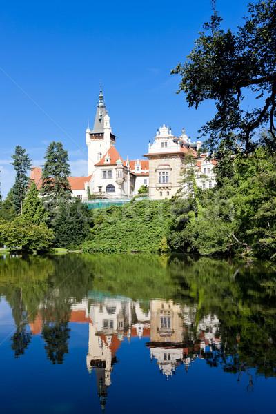 Palácio República Checa edifício viajar arquitetura europa Foto stock © phbcz