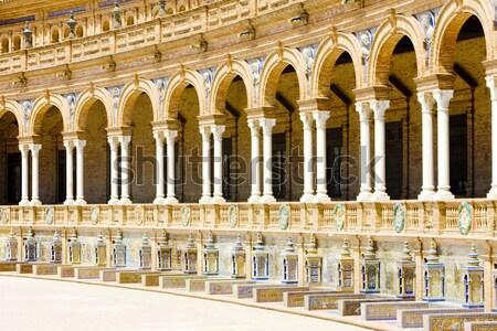 スペイン語 広場 スペイン 建物 アーキテクチャ 列 ストックフォト © phbcz