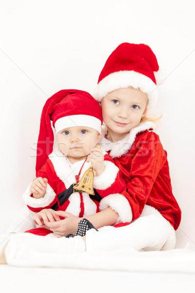 Twee bel kind kid Stockfoto © phbcz