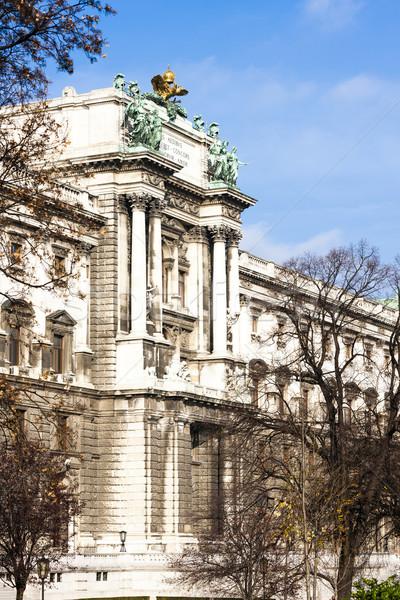 Pałac Wiedeń Austria budynku miasta miejskich Zdjęcia stock © phbcz