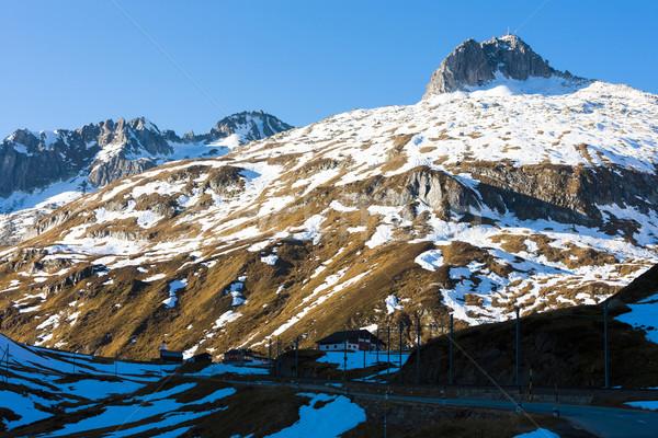 Alpi panorama Svizzera viaggio montagna Europa Foto d'archivio © phbcz