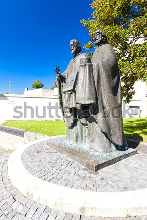 statue of Saints Cyril and Methodius, Nitra, Slovakia Stock photo © phbcz