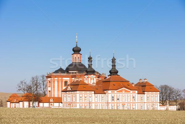 Csehország templom építészet Európa kint történelmi Stock fotó © phbcz
