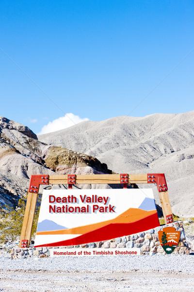 Entrada muerte valle parque California EUA Foto stock © phbcz