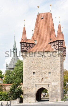 Stock photo: town gate in Rakovnik, Czech Republci