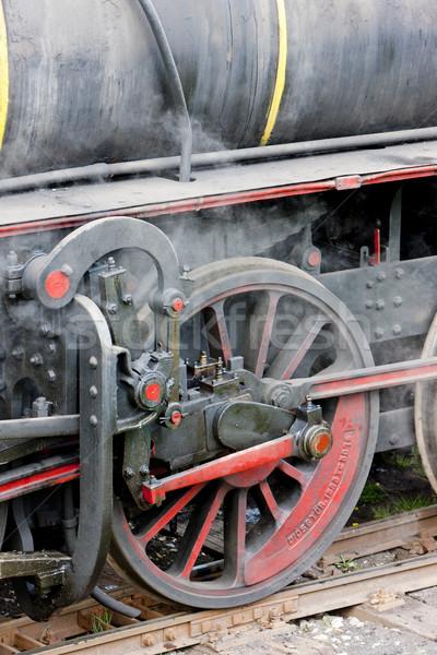 detail of steam locomotive (126.014), Resavica, Serbia Stock photo © phbcz