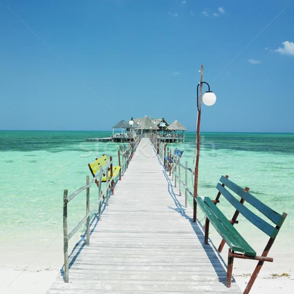 Święty mikołaj plaży wody morza sportowe relaks Zdjęcia stock © phbcz
