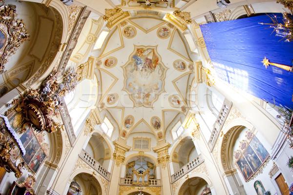interior of pilgrimage church, Wambierzyce, Poland Stock photo © phbcz