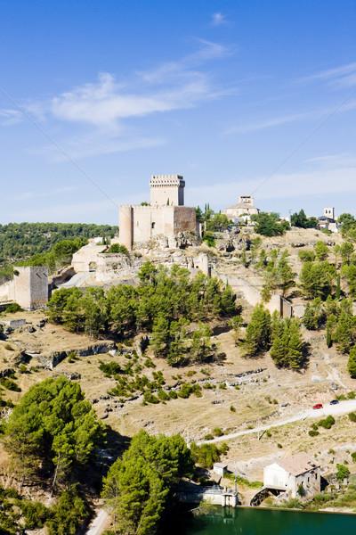 Marques de Villena Castle, Alarcon, Castile-La Mancha, Spain Stock photo © phbcz