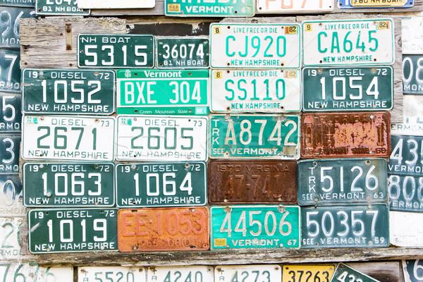 Registratie nummers USA brief achtergronden objecten Stockfoto © phbcz