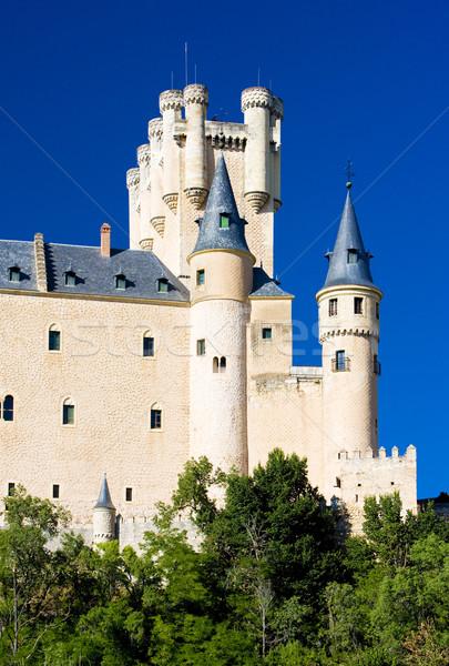 Twierdza Hiszpania budynków architektury historii zewnątrz Zdjęcia stock © phbcz