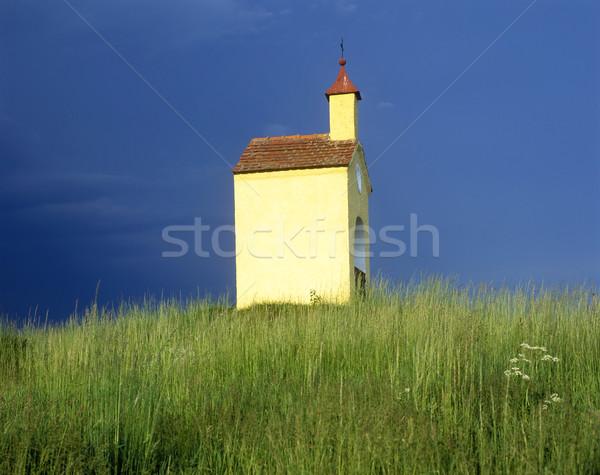 Kápolna Csehország épület építészet szabadtér kint Stock fotó © phbcz
