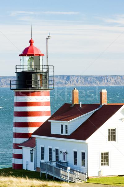 Oeste cabeza faro Maine EUA edificio Foto stock © phbcz