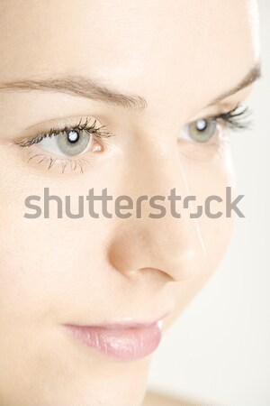 Foto d'archivio: Ritratto · donna · occhi · giovani · sola · giovani