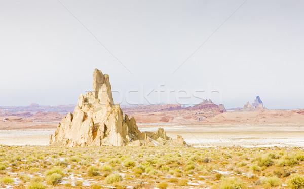 Inverno paisagem Arizona EUA viajar rochas Foto stock © phbcz