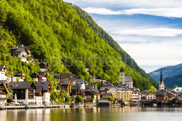Austria casa edificio viaje montanas lago Foto stock © phbcz
