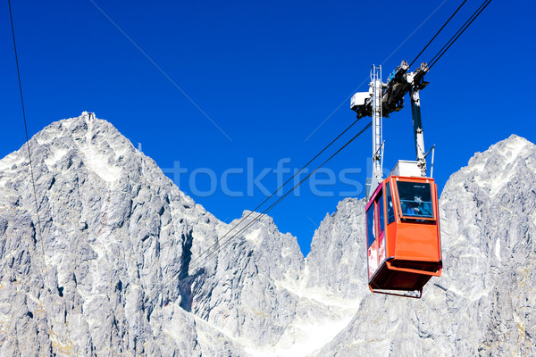 cable car to Lomnicky Peak, Vysoke Tatry (High Tatras), Slovakia Stock photo © phbcz