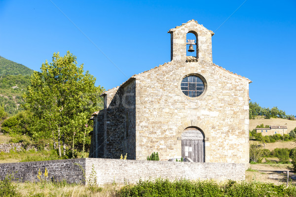 Küçük kilise Fransa kilise seyahat mimari tarih Stok fotoğraf © phbcz