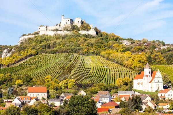руин замок снизить Австрия здании Церкви Сток-фото © phbcz
