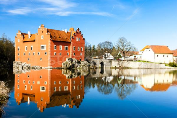 Pałac Czechy wody budynku podróży architektury Zdjęcia stock © phbcz