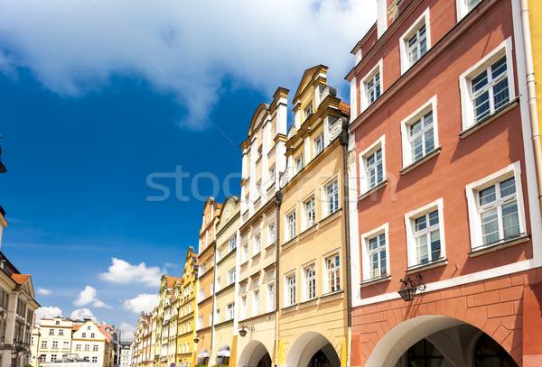 Carré Pologne bâtiment architecture Europe ville Photo stock © phbcz