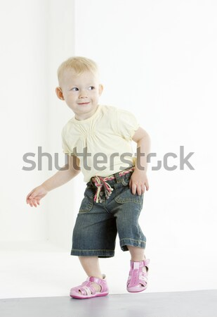 standing toddler Stock photo © phbcz