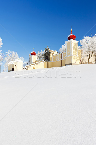 Mountain of Mother of God, Kraliky Monastery, Czech Republic Stock photo © phbcz