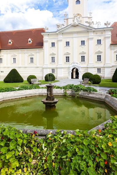 Kolostor kert alsó Ausztria építészet Európa Stock fotó © phbcz